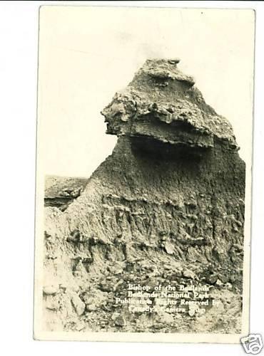 RPPC BISHOP OF THE BADLANDS SOUTH DAKOTA 1938 CANEDY'S