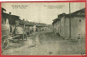 LA GUERRE VISE PARIS FRANCE VERDUN SUBURB 1918 POSTCARD