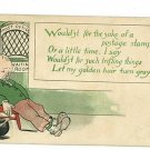 POST OFFICE POSTAGE STAMP CLERK WINDOW COMIC  POSTCARD