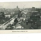 MARION INDIANA 1908  BIRDS EYE VIEW  POSTCARD CALLAHAN