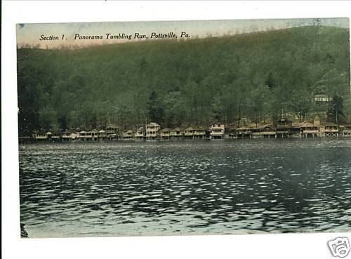 POTTSVILLE PA PANORAMA POSTCARD TUMBLING RUN NO. 1
