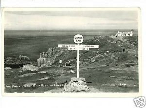 RPPC FIRST & LAST SIGN &  HOUSE IN ENGLAND 1959 POSTCRD