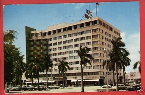 MIAMI FL FLORIDA  BISCAYNE TERRACE HOTEL 1954 POSTCARD
