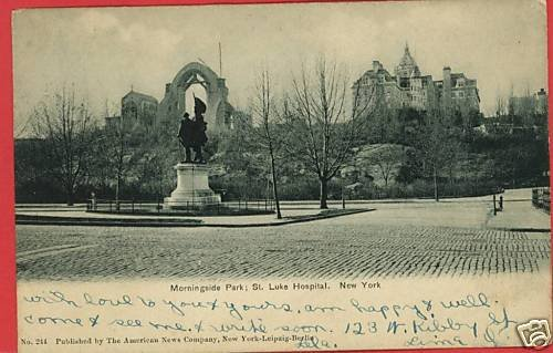 NEW YORK NY MORNINGSIDE PARK ST LUKE HOSPITAL POSTCARD