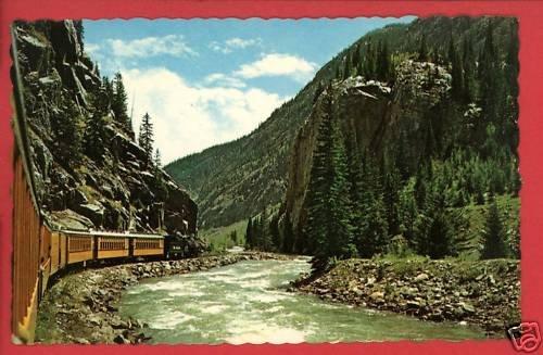 SILVERTON TRAIN Railroad DURGANO CO COLORADO  POSTCARD