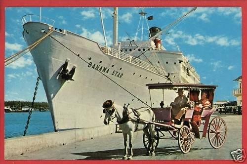 MIAMI FL FLORIDA BAHAMA STAR SHIP STEAMSHIP  POSTCARD