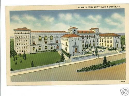 HERSHEY PENNSYLVANIA PA  COMMUNITY CLUB  POSTCARD