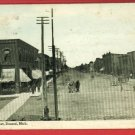 DURAND MI MICHIGAN SAGINAW ST DRUG STORE 1913  POSTCARD