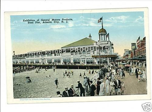 ATLANTIC CITY NEW JERSEY  NJ  GENERAL MOTORS POSTCARD