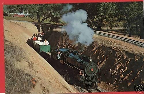 CALISTOGA CALIFORNIA STEAM RAILROAD SILVERADO  POSTCARD