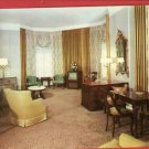 CHICAGO IL LIVING ROOM SUITE CONGRESS HOTEL TV POSTCARD