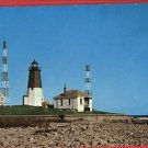 POINT JUDITH RI RHODE ISLAND LIGHTHOUSE   POSTCARD