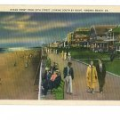 VIRGINIA BEACH VA   24TH STREET AT NIGHT  1938 POSTCARD