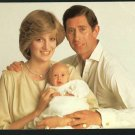 PRINCE PRINCESS DIANA PRINCE WILLIAM WALES  UK POSTCARD