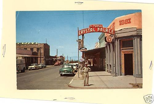 TOMBSTONE ARIZONA AZ CRYSTAL PALACE  CARS PETLEY PSTCRD