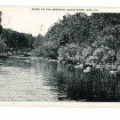 EAGLE RIVER WISCONSIN WI DEERSKIN 1952  POSTCARD