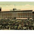 ALBANY NY NEW YORK  PUBLIC MARKET NEWS HORSES POSTCARD