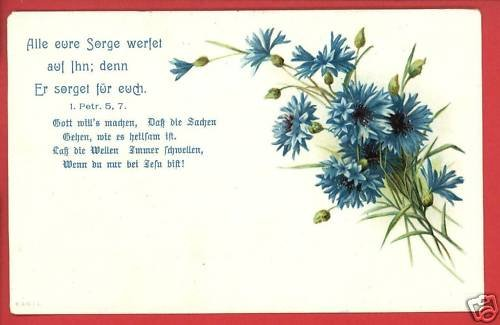 RELIGIOUS GERMAN POSTCARD ALLE EURE SORGE WERFET