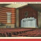 KANSAS CITY MO MUSIC HALL MUNICIPAL AUDITORIUM POSTCARD