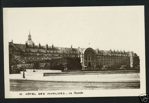 MUSEUM L'ARMEE PARIS LA FACADE HOTEL INVALIDES POSTCARD