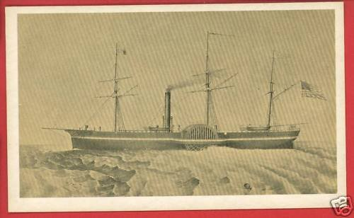 CALIFORNIA  STEAMBOAT SHIP BOAT PEABODY MUSEUM  CARD