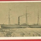 CALIFORNIA  STEAMBOAT SHIP BOAT PEABODY MUSEUM  CARD