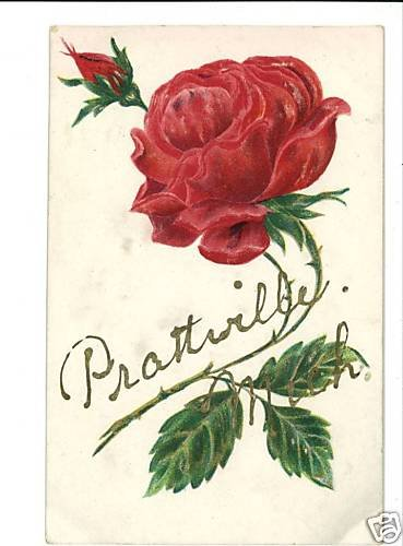 PRATTVILLE MICHIGAN MI 1909 EMBOSSED  POSTCARD