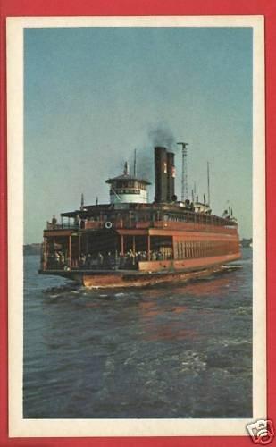 DONGAN HILLS STEAMBOAT SHIP BOAT C. B. MITCHELL CARD
