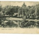 ELKHART INDIANA IN RIVER UND BACK POSTCARD