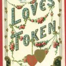 LOVE'S TOKEN HEARTS DOVES  1909 B. HOFMANN POSTCARD