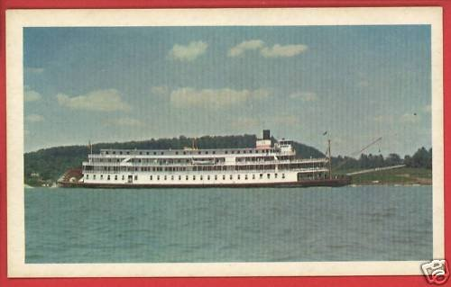 DELTA QUEEN STEAMBOAT SHIP BOAT GREENE LINE  CARD