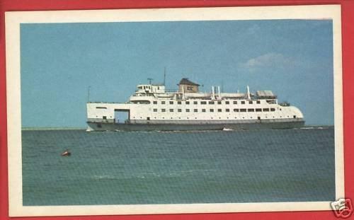 NANTUCKET STEAMBOAT  SHIP BOAT 1957 GRAHAM CARD