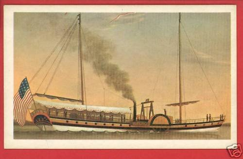 PHOENIX STEAMBOAT SHIP BOAT MARINERS MUSEUM CARD