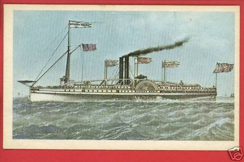 WESTERN WORLD  STEAMBOAT SHIP BOAT PEABODY MUSEUM  CARD