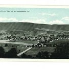 McCONNELLSBURG PENNSYLVANIA PA BIRD'S EYE VIEW POSTCARD