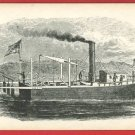 THE STEAMBOAT SHIP BOAT CULVER PICTURES  CARD