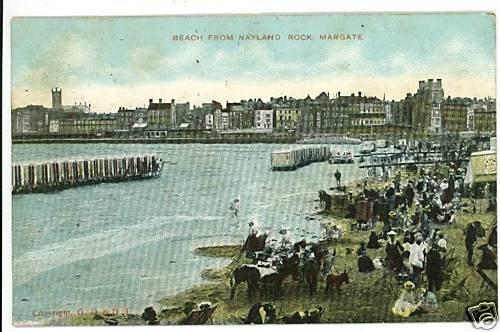 MARGATE UK BEACH FROM NAYLAND ROCK KENT  POSTCARD