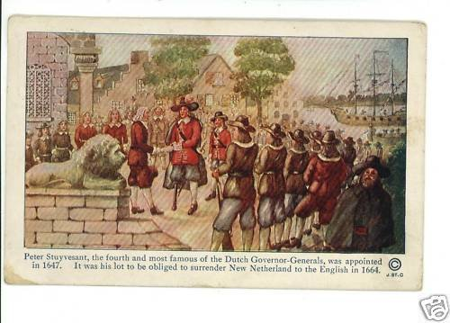 TERCENTENARY CELEBRATION GENERAL STUYVESANT POSTCARD