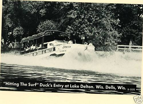 WISCONSIN DELLS HITTING THE SURF AMPHIBIOUS DUCK