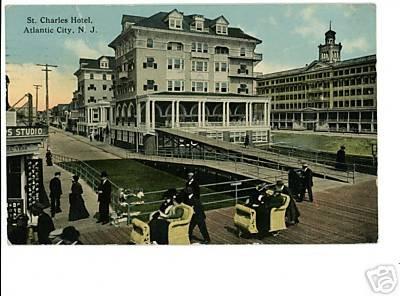 ATLANTIC CITY New Jersey  ST CHARLES HOTEL  PUSH CARTS