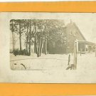 RPPC  HOUSE WIRE FENCE SNOW 1914 RP POSTCARD