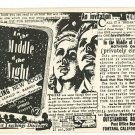 METAPHYSICS MIDDLE OF NIGHT Book Advertising POSTCARD