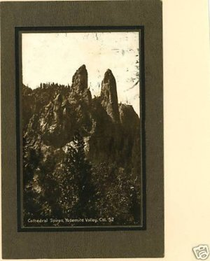 YOSEMITE VALLEY CALIFORNIA CATHEDRAL SPIRES 1912 POSTCD