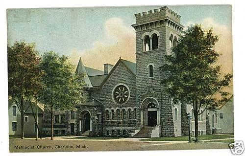 CHARLOTTE MICHIGAN METHODIST CHURCH  POSTCARD