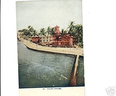 Colon, Panama 1912 Postcard