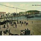 OLD ORCHARD MAINE   PIER PEOPLE  HORSE BUGGY   POSTCARD