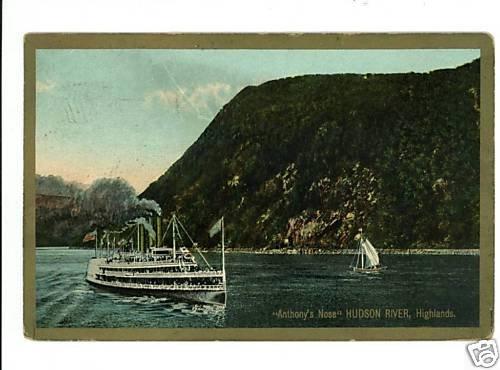 ANTHONY'S NOSE HUDSON RIVER HIGHLANDS NEW YORK SHIP
