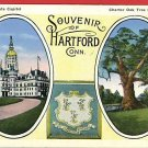 HARTFORD CONNECTICUT  SOUVENIR OF   FISCHER POSTCARD
