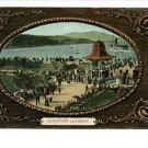 BANDSTAND ROTHESAY VINTAGE POSTCARD BORDER UK PEOPLE