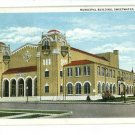 SWEETWATER TEXAS TX MUNICIPAL BLDG 1937  POSTCARD